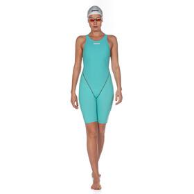 arena Powerskin St 2.0 Short Leg Open Combinaison courte Femme, aquamarine